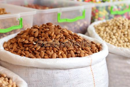 almonds bag full