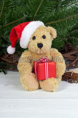 teddy teddy bear bear christmas hat