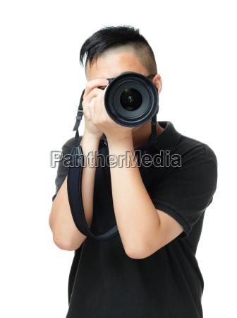 asian, man, takes, photo - 10414075