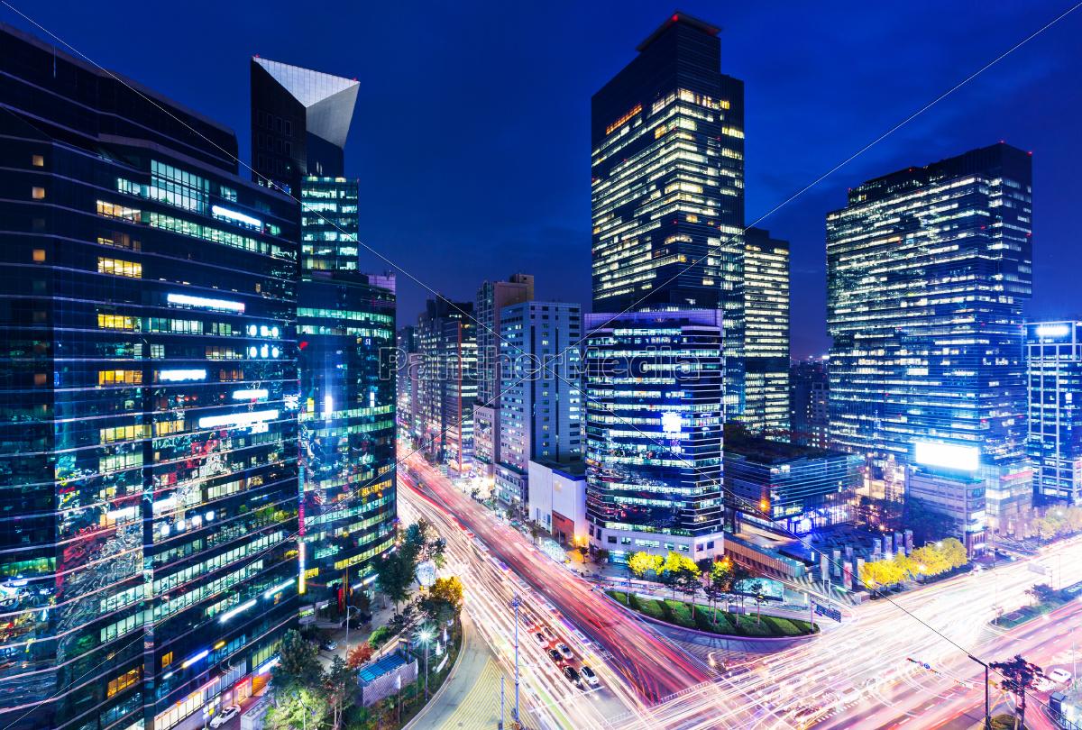 gangnam, district, in, seoul, at, night - 10416771