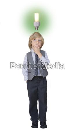 boy businessman with idea