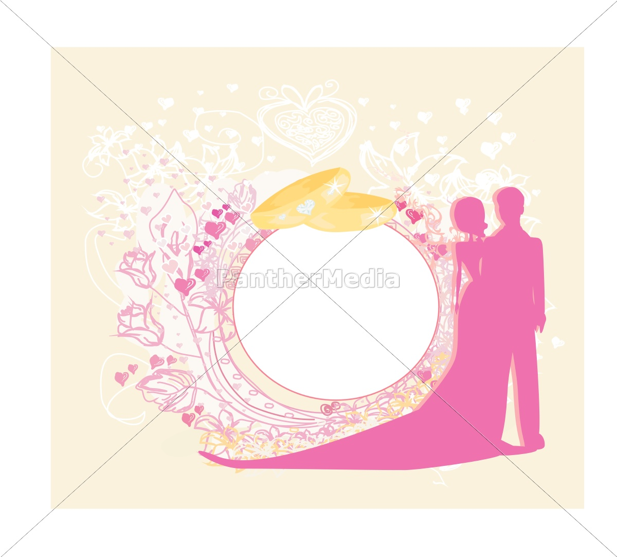 card, with, love, couple, and, floral - 10426411