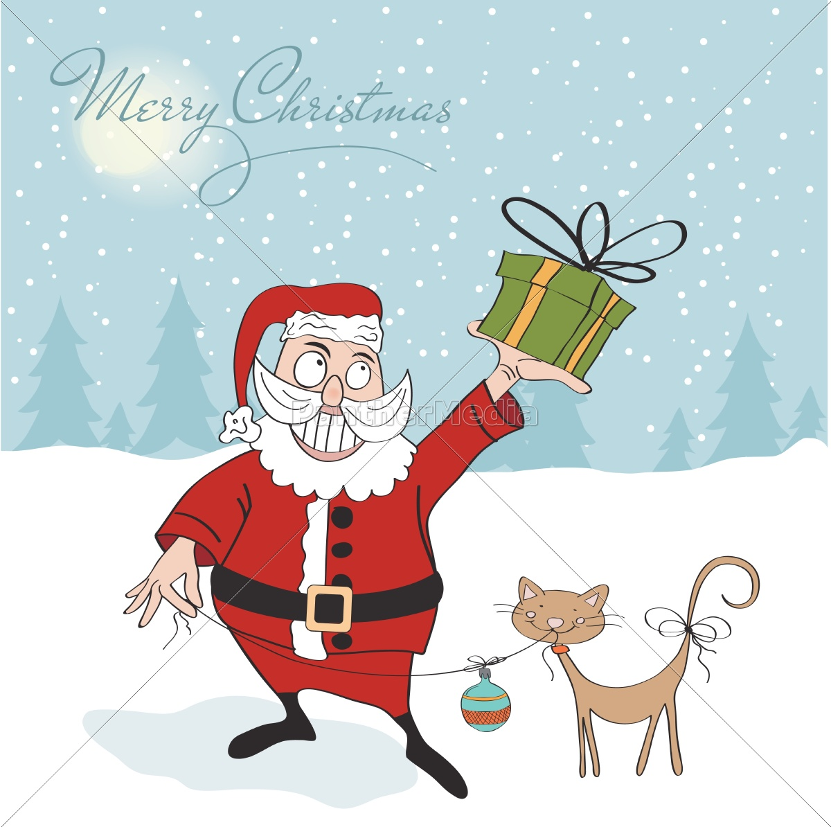 santa, claus, with, gift - 10452321