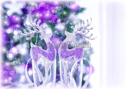 shiny reindeer decor