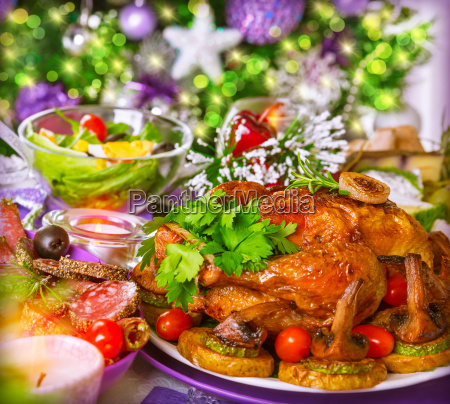 traditional, christmas, table - 10476103