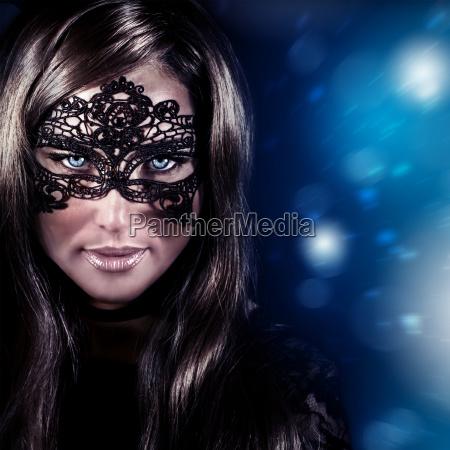woman on masquerade