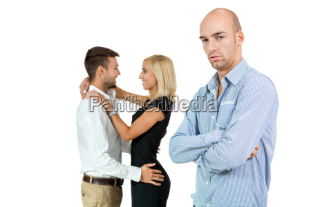 young adult man jealous of amorous
