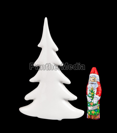chocolate figure of santa claus and