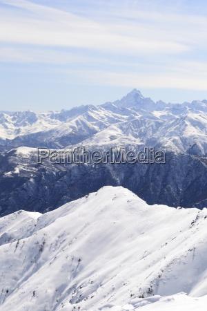 off piste snowy slope in majestic