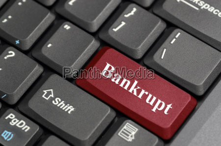 bankrupt key on keyboard