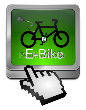 e bike button with cursor