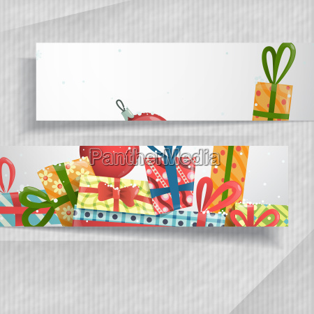3d abstract banners with place for