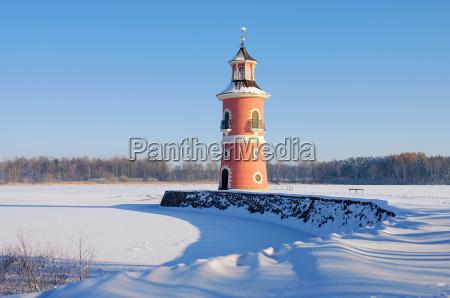 moritzburg lighthouse in winter moritzburg