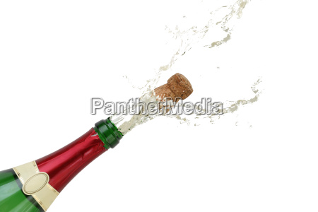 champagne splashes on new years eve