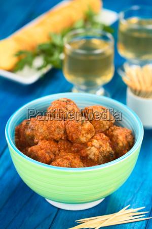 spanish albondigas or meatballs