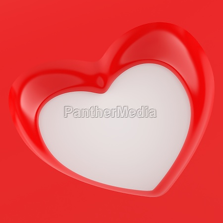 3d heart flyer square red