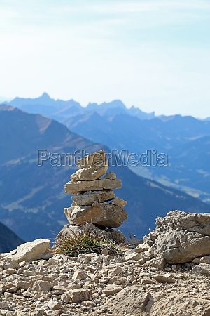 hiking at nebelhorn