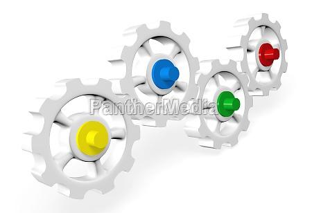 colorful gear concept 8