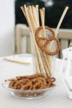 salt pastries on table