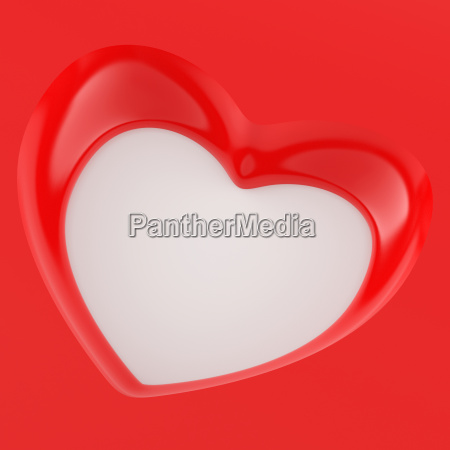 3d heart background square