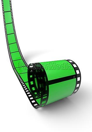 blank film reel green 08