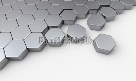 silver hexagon block concept 3