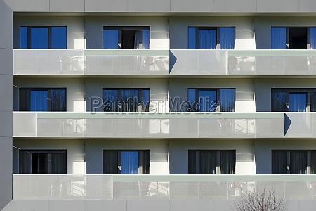 hotel facade with balconies 2