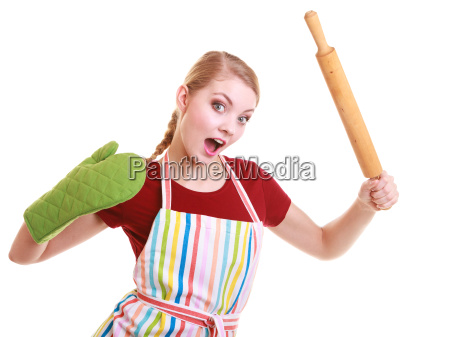 funny housewife kitchen oven mitten apron