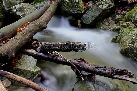 long term exposure waterfall scenery countryside