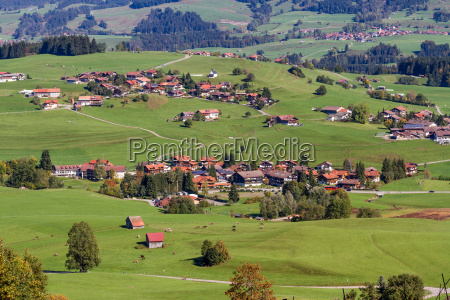 agricultural mountain village in the german