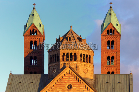 west towers of the speyer cathedral