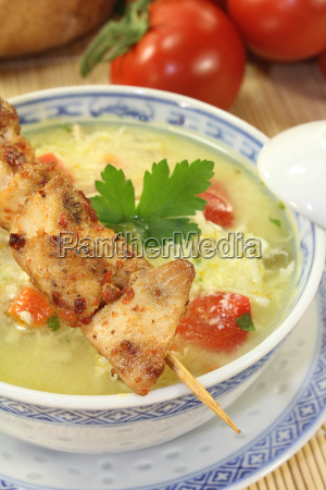 asian, chicken, soup, with, greens - 10605479