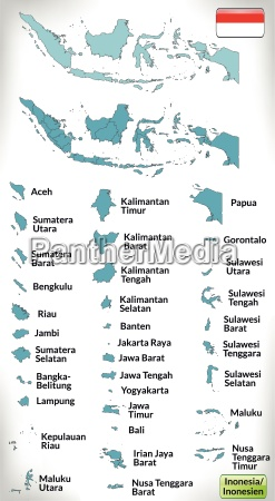border map of indonesia with borders