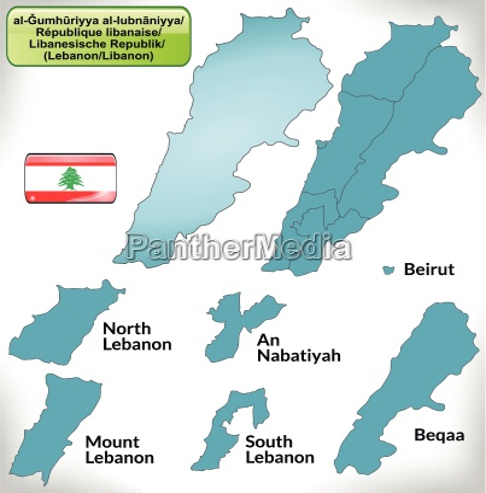 border map of lebanon with borders