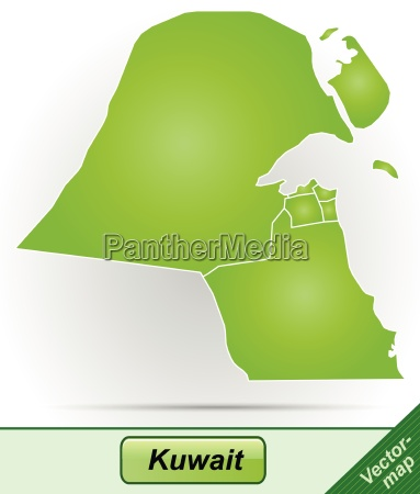 border map of kuwait with borders