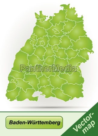 border map of baden wuerttemberg with