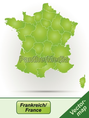 boundary map of france with borders