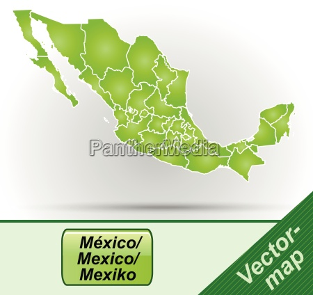 boundary map of mexico with borders