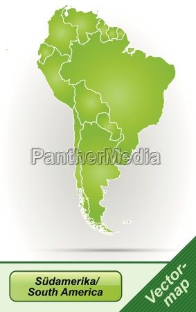 border map of south america with