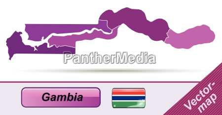 border map of gambia with borders