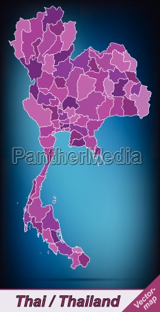 border map of thailand with borders