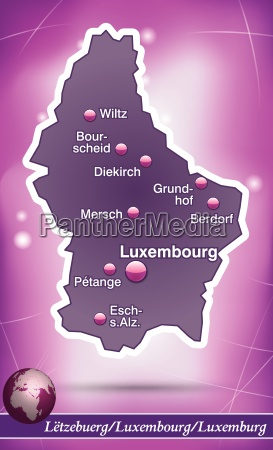 island map of luxembourg abstract background