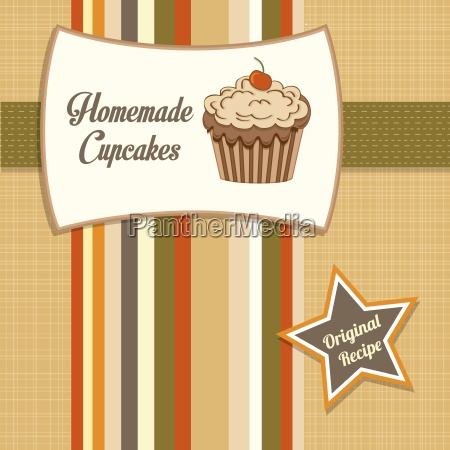 vintage homemade cupcakes poster