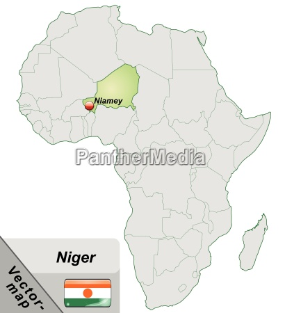 island map of niger with capitals