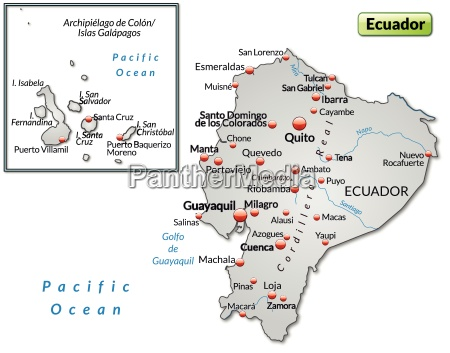island map of ecuador as an
