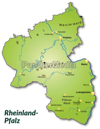 map of rhineland palatinate as an