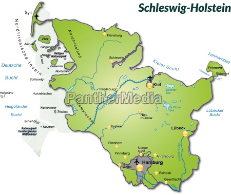map of schleswig holstein as overview