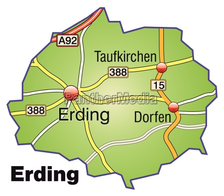 map of erding with transport network