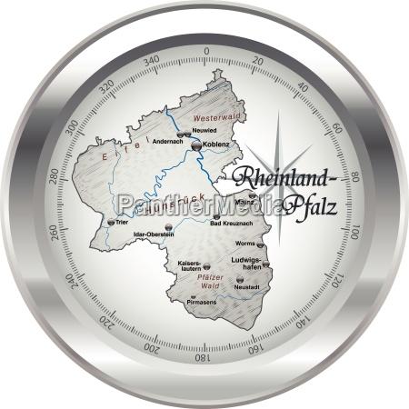 map of rhineland palatinate as an