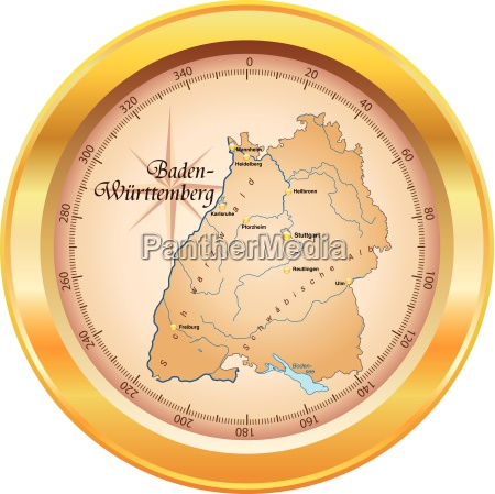 map of baden wuerttemberg as outline